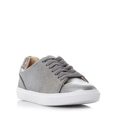 Dune Silver 'Ebeline' textured lace up