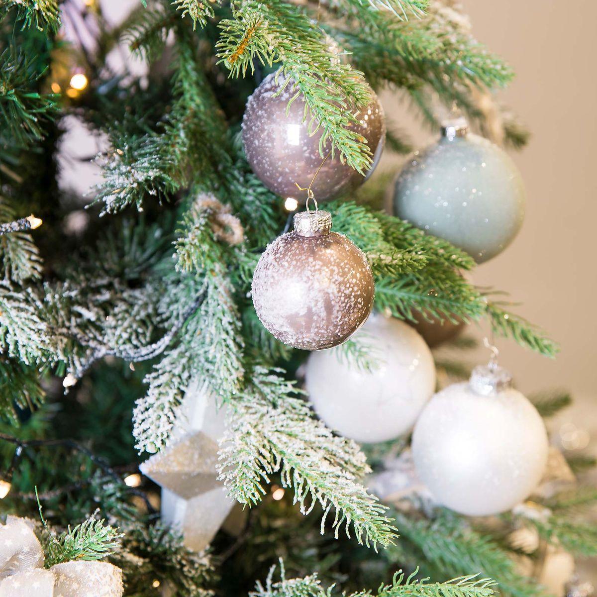 Kugelbox D 6cm 12er Set Altrosa Rosa Weihnachtsbaum Weihnachsbaum Schmucken Weihnachtsbaum
