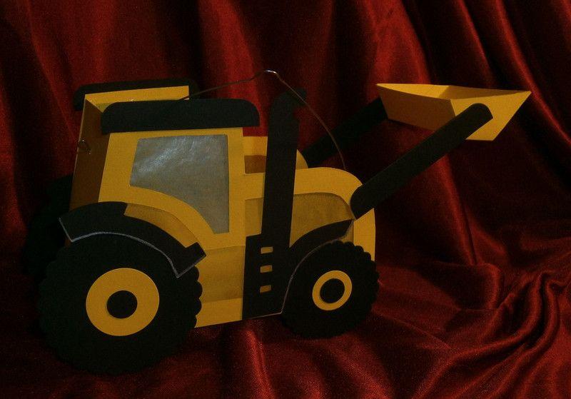 Herbst Laterne St Martin Traktor Radlader 3 5 Jahre Ein