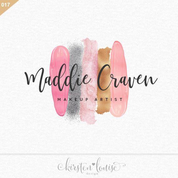 Premade Makeup Artist Logo Swatch Swatches Design Mua By Kirsten Louise