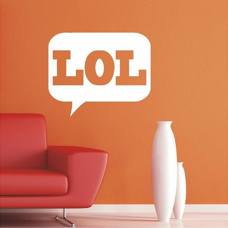 LOL Quotes Wall Decals, Stickers