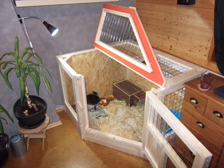 Kaninchengehege Aus Holz Mit Decker Wohnecke Kaninchengehege