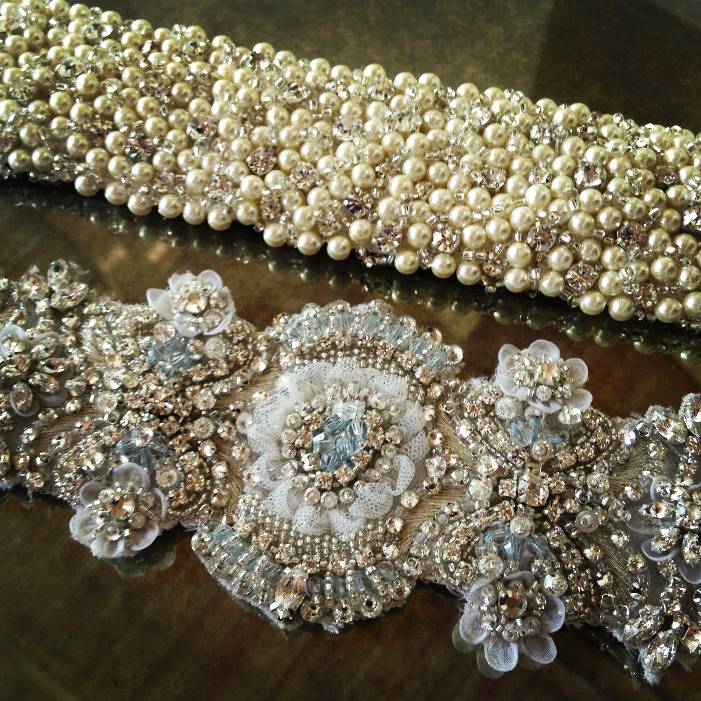 Rhinestone Applique Strass Motif Cristal tailler pour Mariage Écharpe Ceinture