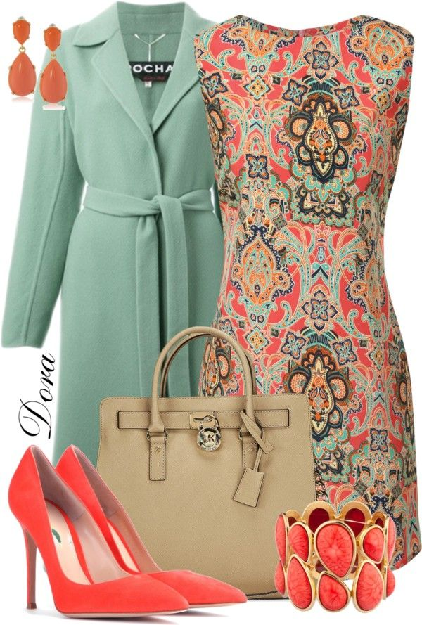 Chic Outfits Paisley Print Pink Dress