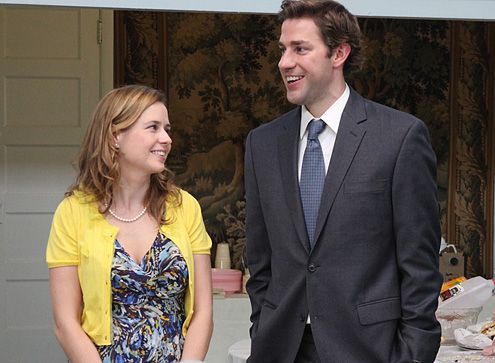Jim and Pam (John Krasinski and Jenna Fischer) #TheOffice