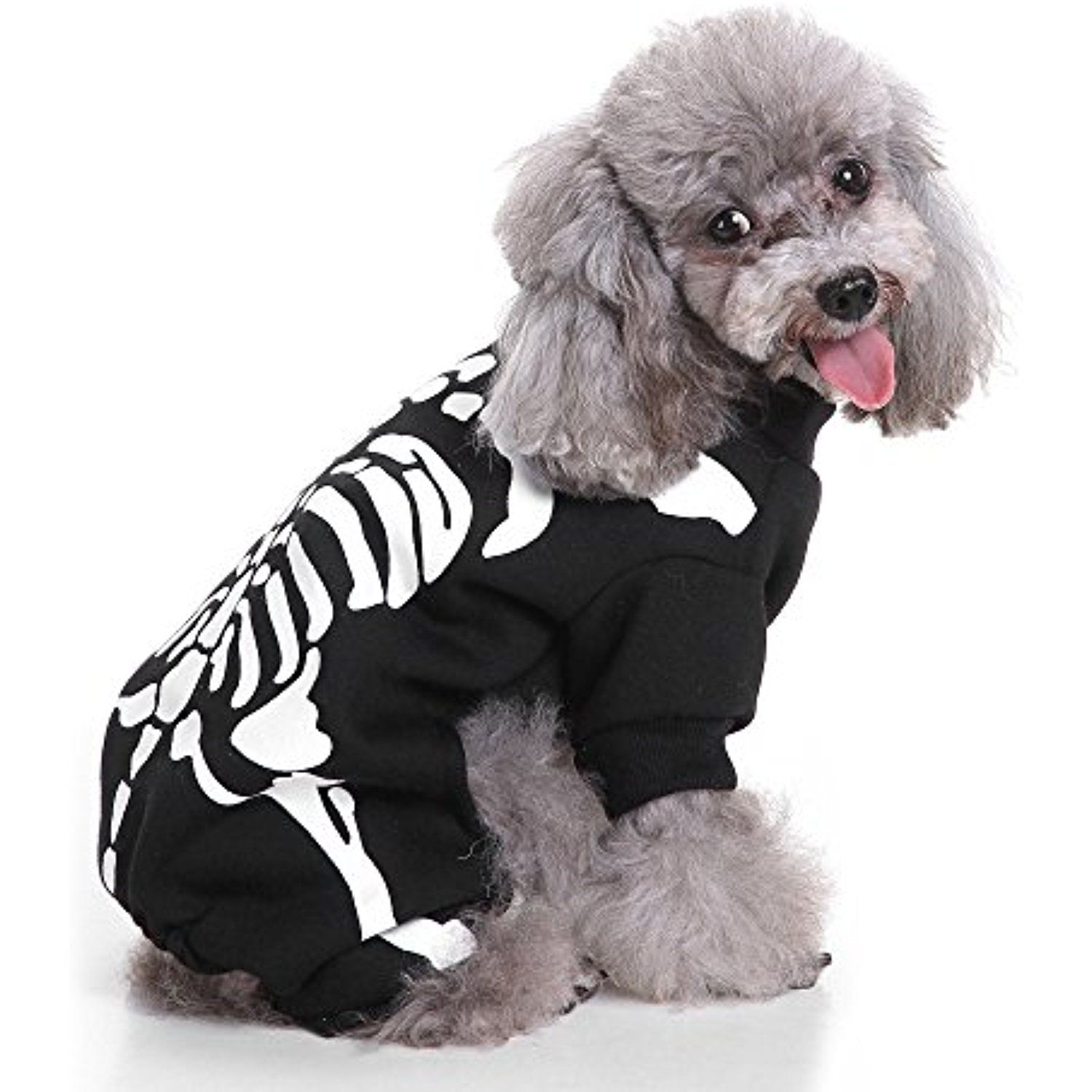 S Lifeeling Bones Dog Costume Holiday Halloween Christmas Pet Clothes Soft Comfortable Dog Clo Christmas Dog Costume Pet Halloween Costumes Halloween Pets Dogs