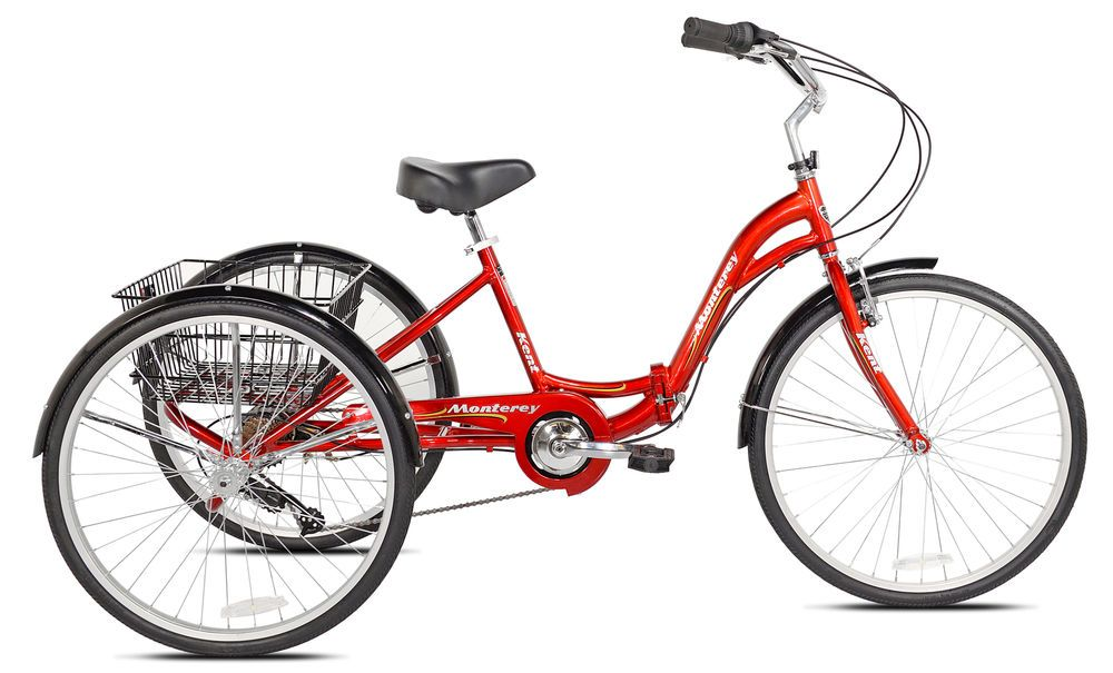 Details About New 26 Kent Monterey Adult Folding Trike Red