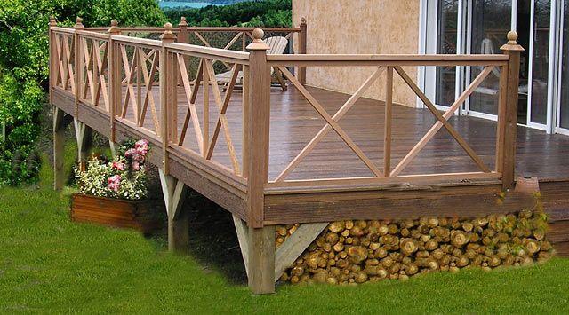 Terrace Wooden Fence Pergola Selber Bauen Pergola Terrassen Gelander
