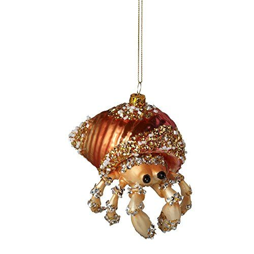 Crab Glass Ornament *** This is an Amazon Affiliate link. You can find more details by visiting the image link.