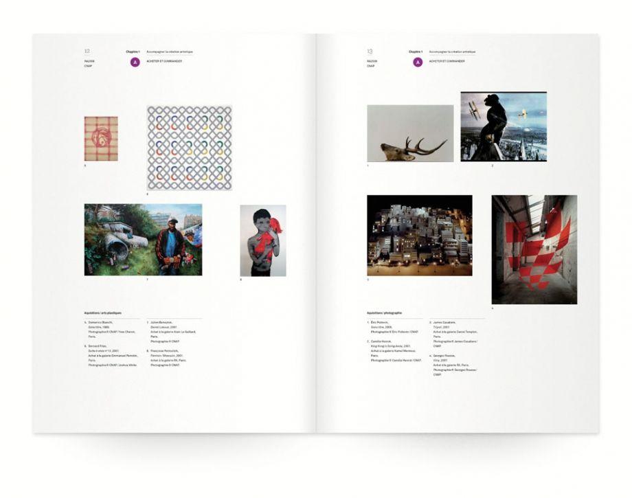 CNAP  Design graphique — édition , 2009    Réalisation du rapport d'activité du CNAP (Centre National des Arts Plastiques)  Format: 210 x 297 mm, 132 pages