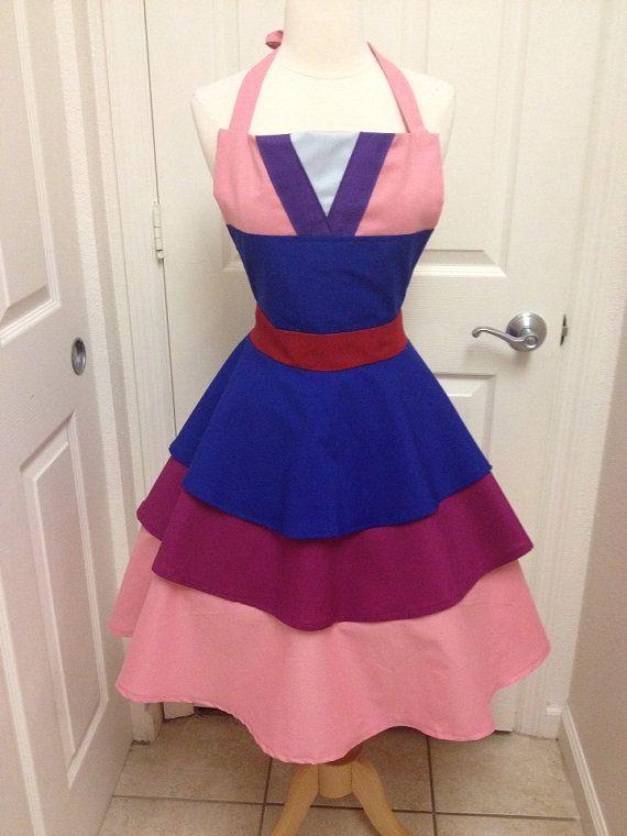 Mulan costume apron dress | Pinterest | Nähzimmer und Nähideen