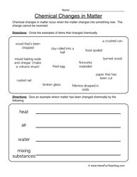Printables 8th Grade Chemistry Worksheets properties of matter worksheet 2 chemical change and worksheets