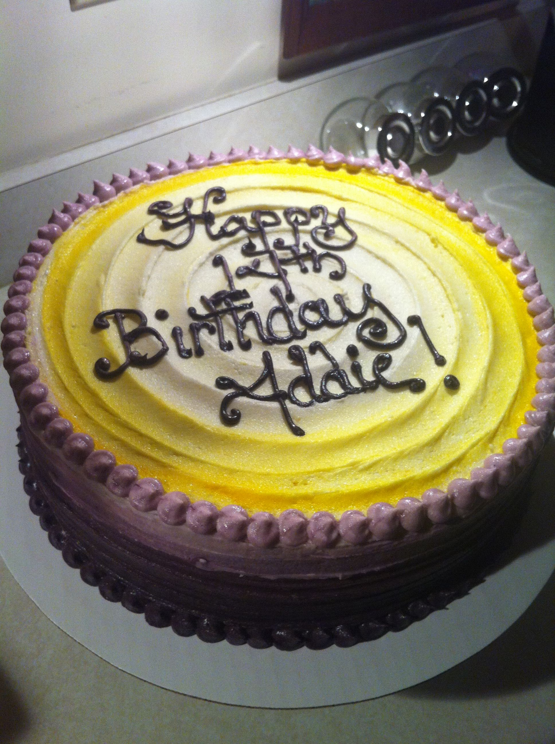 Ombré Birthday Cake