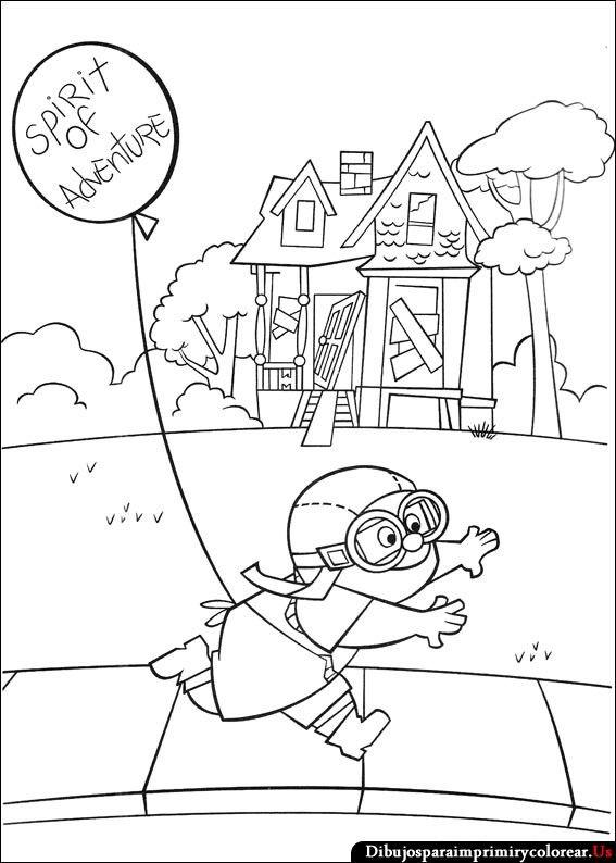 Dibujos De Up Una Aventura De Altura Para Imprimir Y Colorear Disney Princess Coloring Pages Princess Coloring Pages Disney Coloring Pages