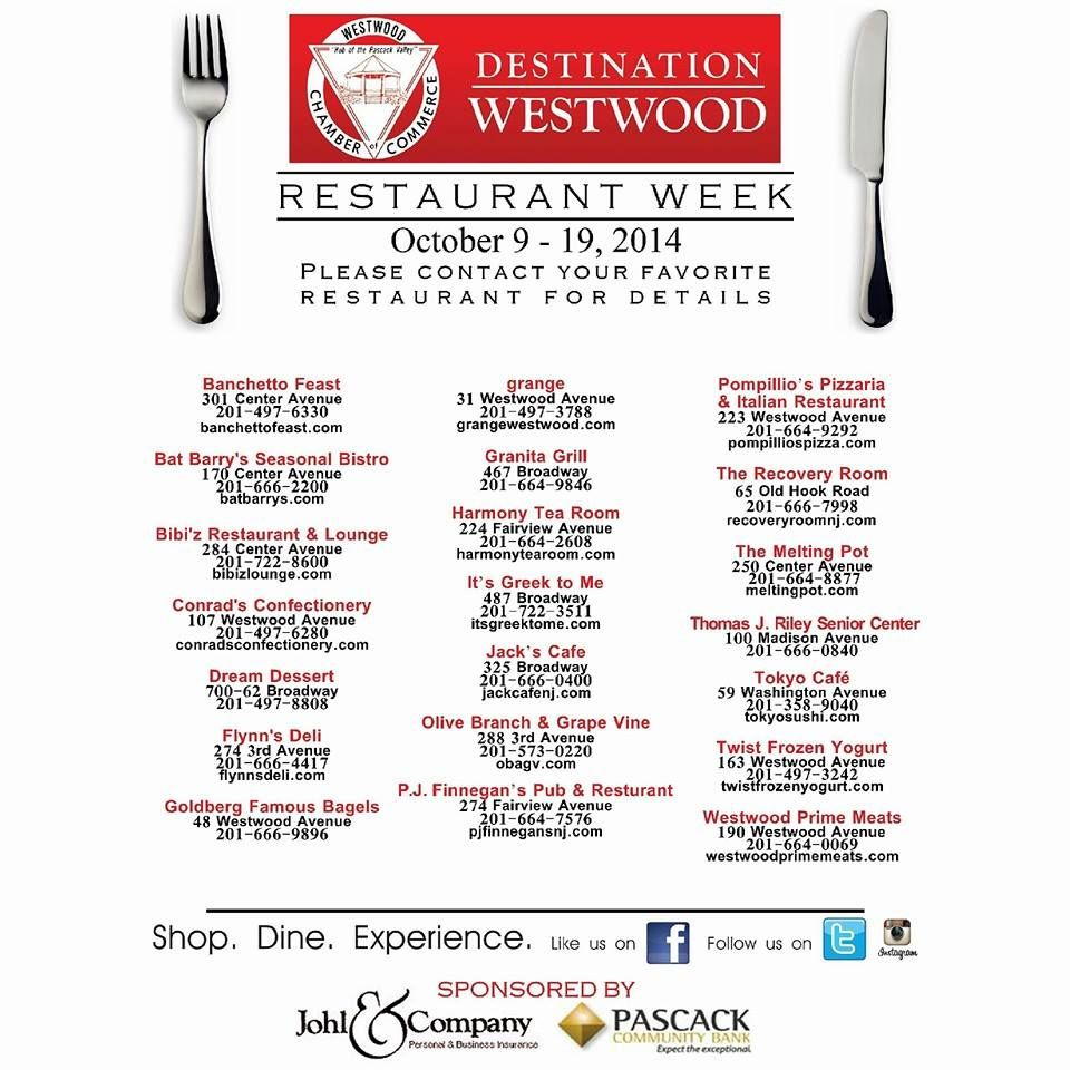 Restaurant Week Is Coming To The Hub Of Pasackvalley Live Eat