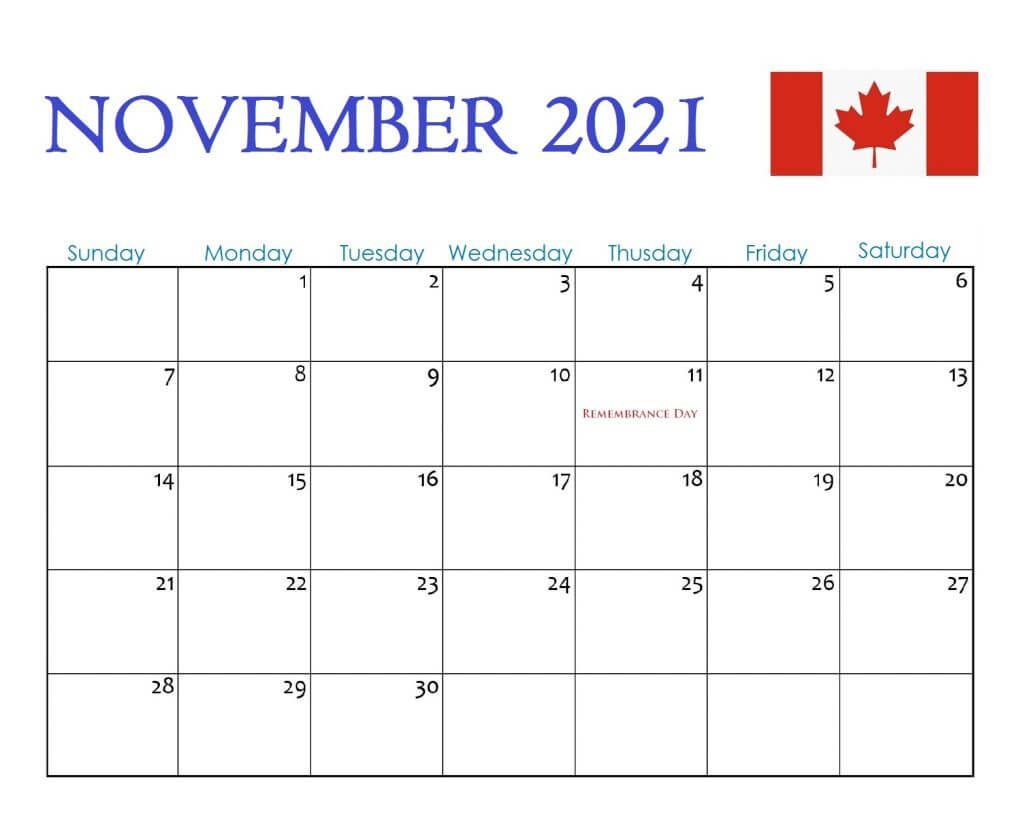2021 Calendar With Holidays Canada Photos