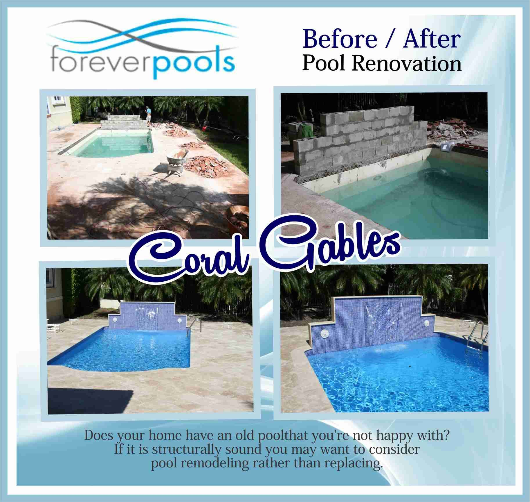 Coral Gables Pool Remodeling Does Your Home Have An Old Pool That You Re Not Happy With If It Is Structurally Sound You May Pool Remodel Pool Renovation Pool