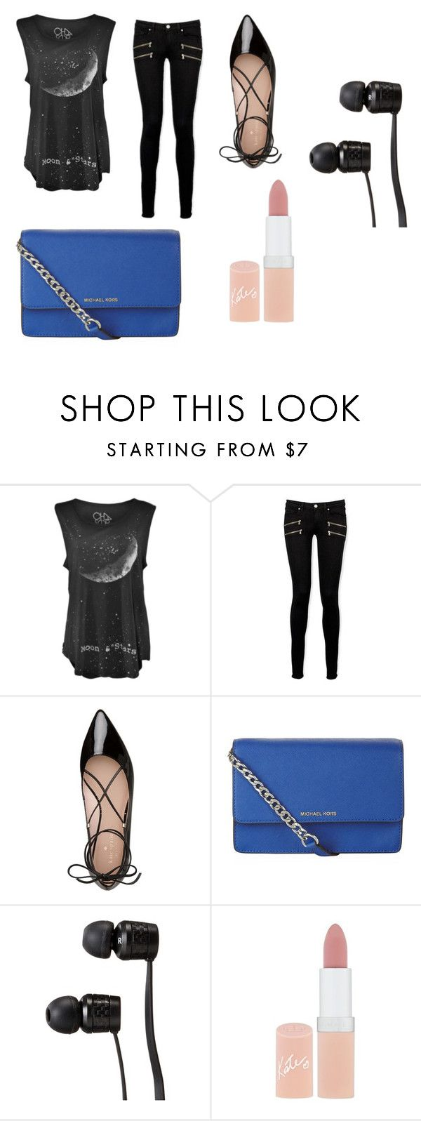 """""""Untitled #14"""" by iti-arvisto ❤ liked on Polyvore featuring Paige Denim, Kate Spade, MICHAEL Michael Kors, Vans and Rimmel"""