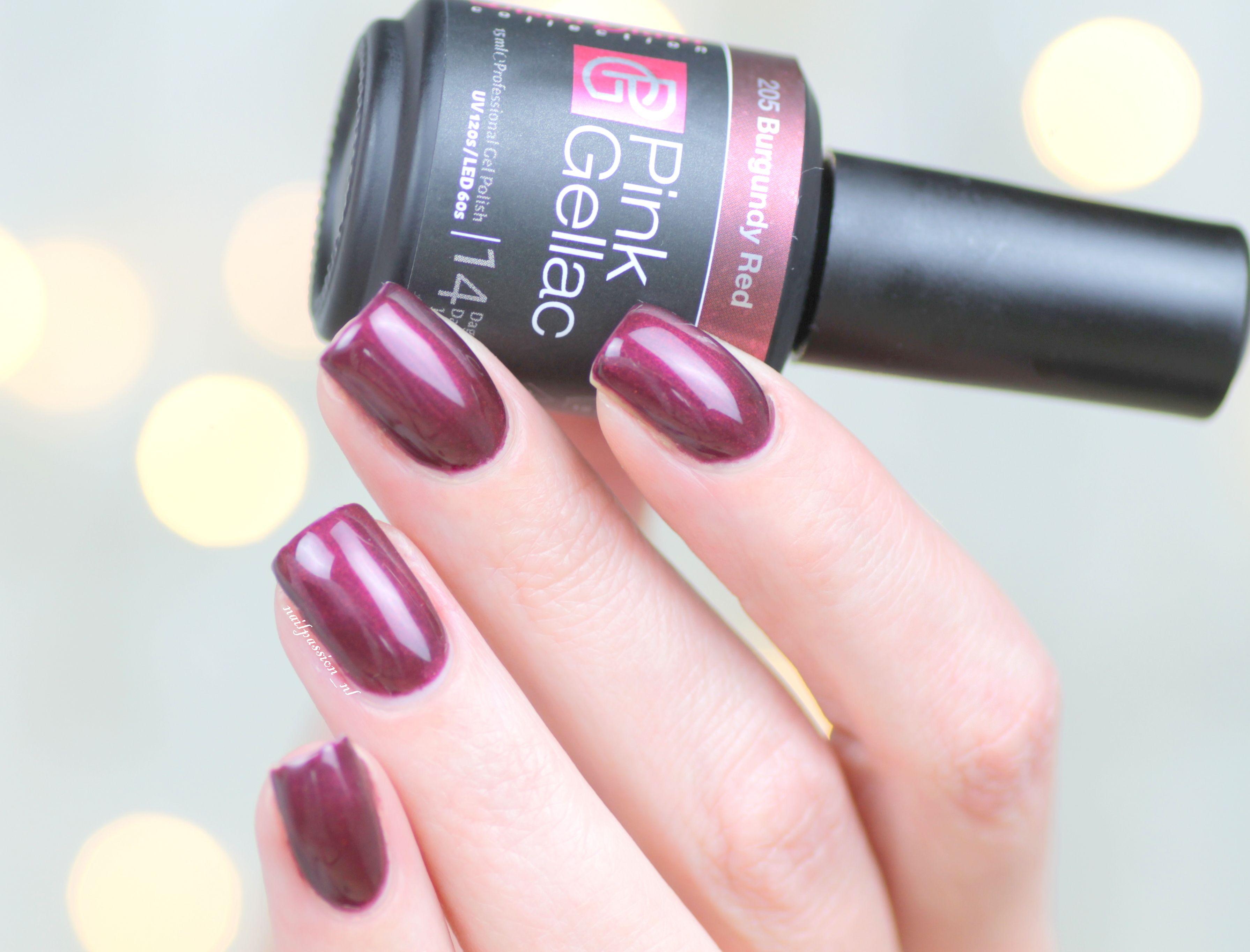 Uitgelezene Pink Gellac Disco Glam Collection • 205 Burgundy Red | Nails WM-51
