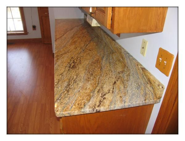 Yellow Marble Kitchen Countertops Yellow River Granite Countertop With Big Eased Edge All