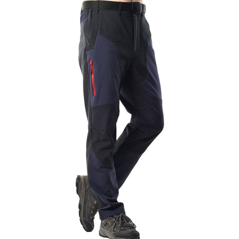 Bekleidung Men Women Pants Solid Color Elastic Waist Thick Soft Warm Trousers For OutdoorTT