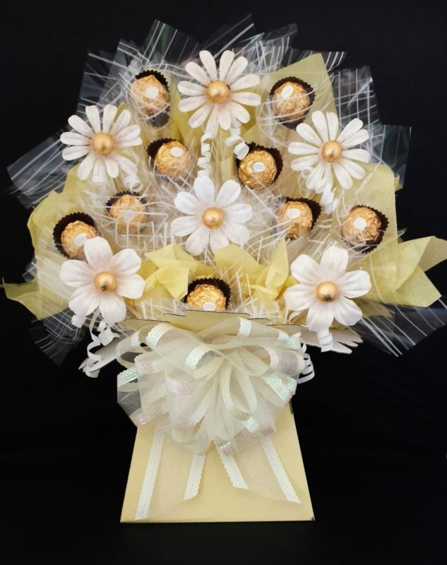 Ferrero Rocher Chocolate Flowers Bouquet Chocolate