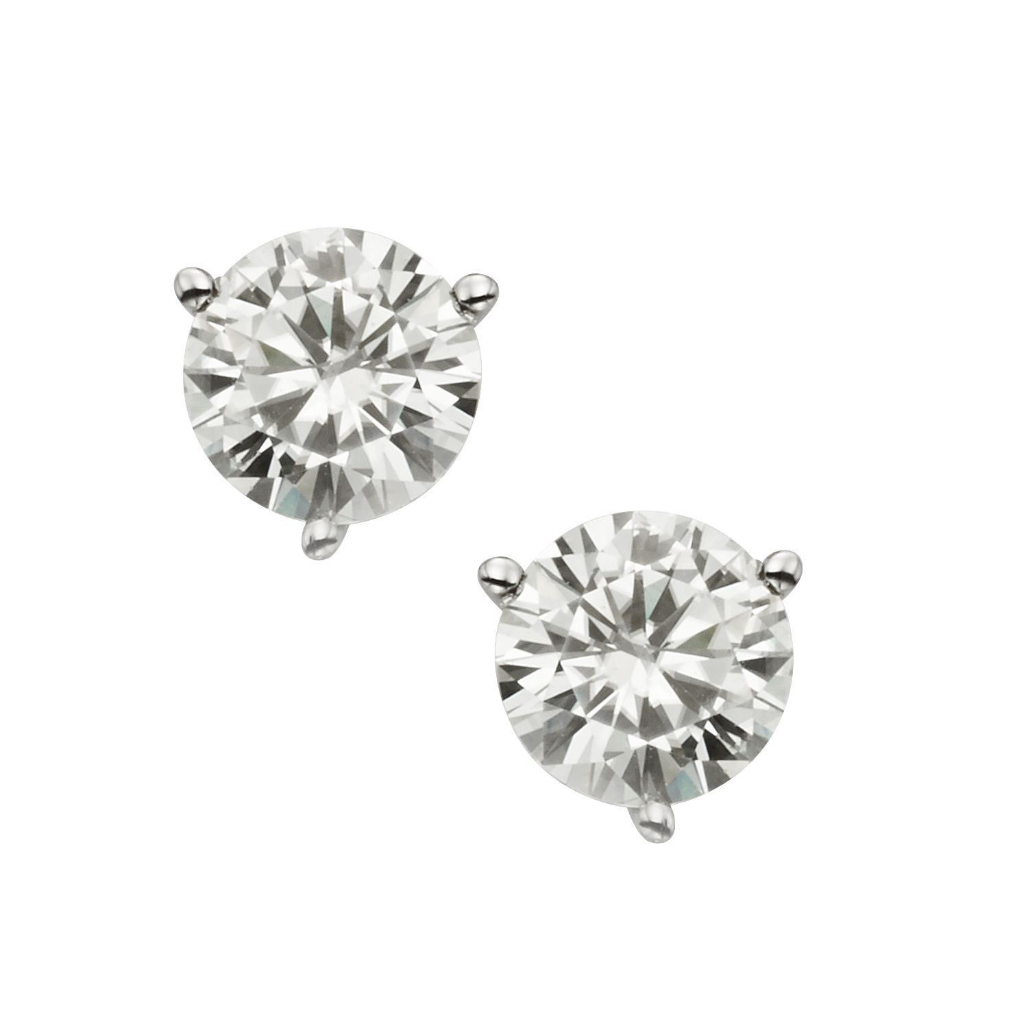 p picture gold of colvard s white moissanite earrings round charles stud dew