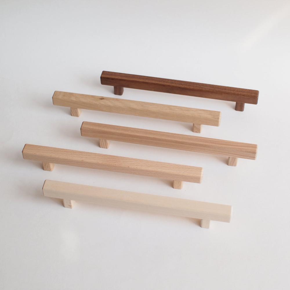 Line wooden cabinet handles wood drawer pulls wooden ...