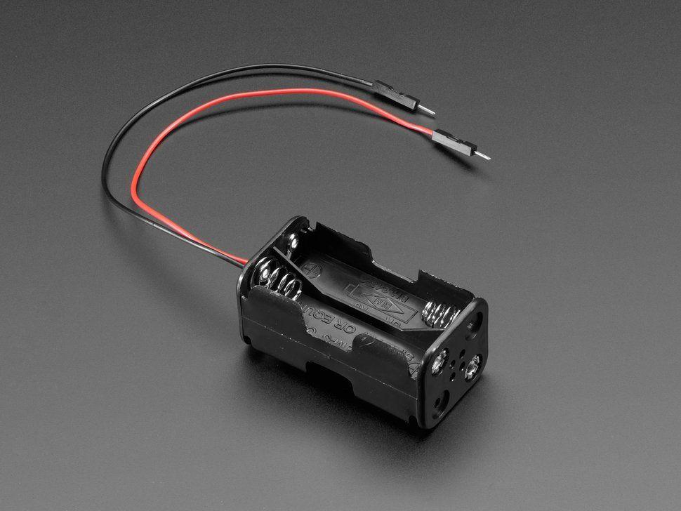 2x2 Aa Battery Holder With Premium Jumper Header Wires Battery Holder Battery Holders Aa Batteries