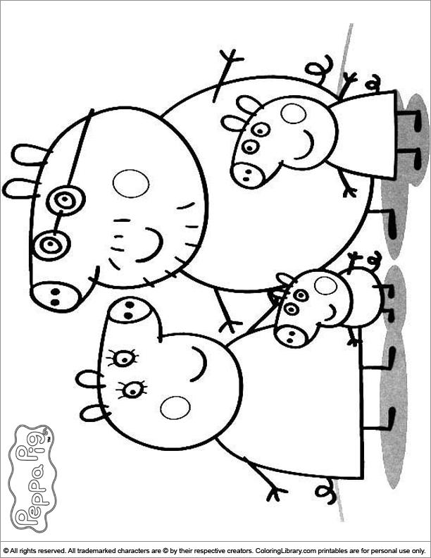 peppa pig coloring page - Peppa Pig Coloring Pages Print
