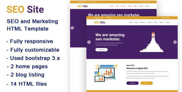 Awesome Search Engine Optimization Website And Promoting Html Template