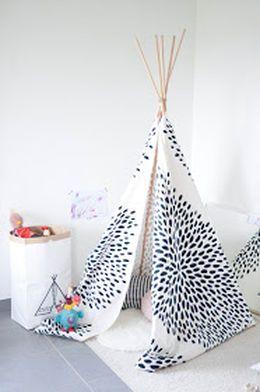 tuto diy gratuit pour fabriquer un tipi pour d corer et jouer et ce tuipi t fabriqu pour. Black Bedroom Furniture Sets. Home Design Ideas