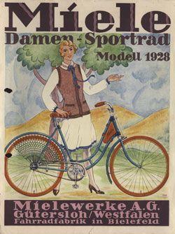 Miele Technikgeschichte | Altes fahrrad, Fahrrad poster