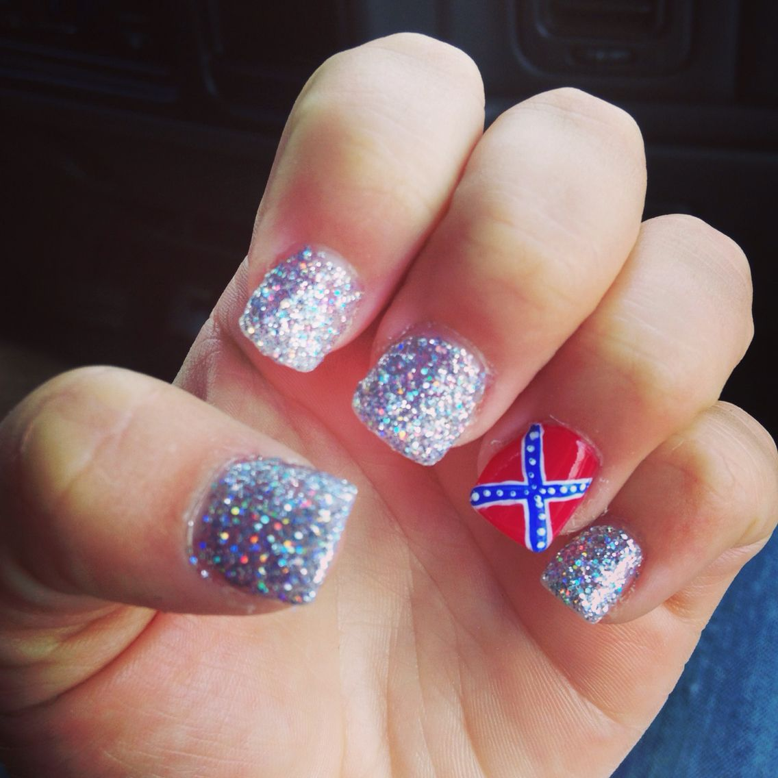 Confederate flag nails❤ - Confederate Flag Nails❤ Nails Pinterest Flag Nails,  Country - Country Nail Designs Graham Reid