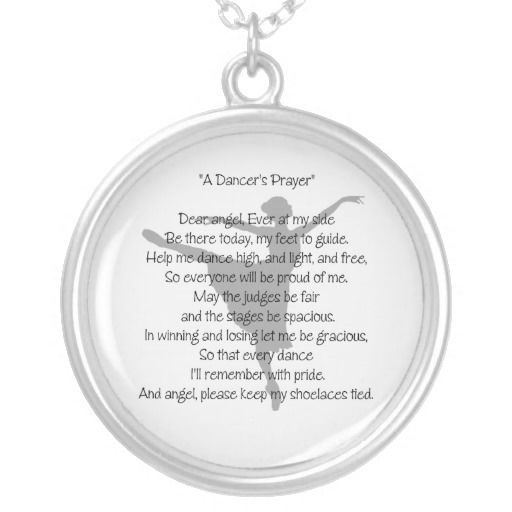A Dancers Prayer Necklace