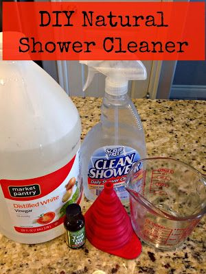 Beautiful DIY Natural Daily Shower Cleaner
