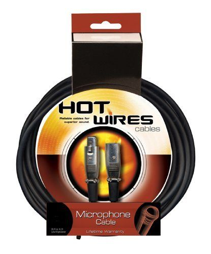 Hot Wires Microphone Cables - 6 Feet by On Stage. $6.95. Hot Wires Microphone CablesWhen it comes to live sound, recording, and quality, Hot Wires cables are a vital accessory. Hot Wires microphone cables are flexible, durable, and have an inner and outer PVC shielding for smooth sound transfer. No other gear can withstand being stepped on, twisted, pulled, and dragged, yet still perform every time as if it was the first time. If you're looking for a great quality but inexpens...