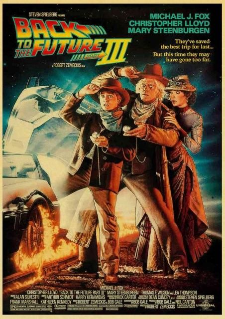 Vintage Back to the Future Retro Poster Collection (Various Styles and Sizes) - 42X30CM / 10