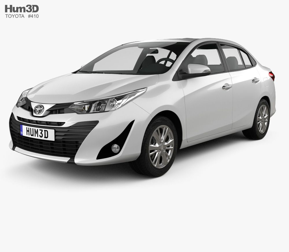3d Model Of Toyota Vios 2018 Toyota Vios Classic Cars Toyota Cars