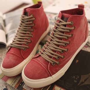 Increased in 2013 porous shoelaces paragraph Hong Kong version of the new spring women's high-top lace Korean washing canvas shoes