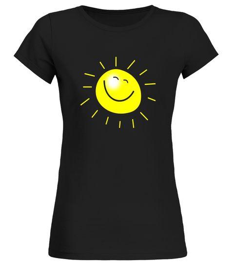 Smiley Face Sunshine Sun T-Shirt Kids Summer Happy Fun Smile