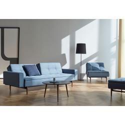 Photo of Innovation Dublexo Wood Styletto Soft Indigo 558 – Schlafsofa Innovation