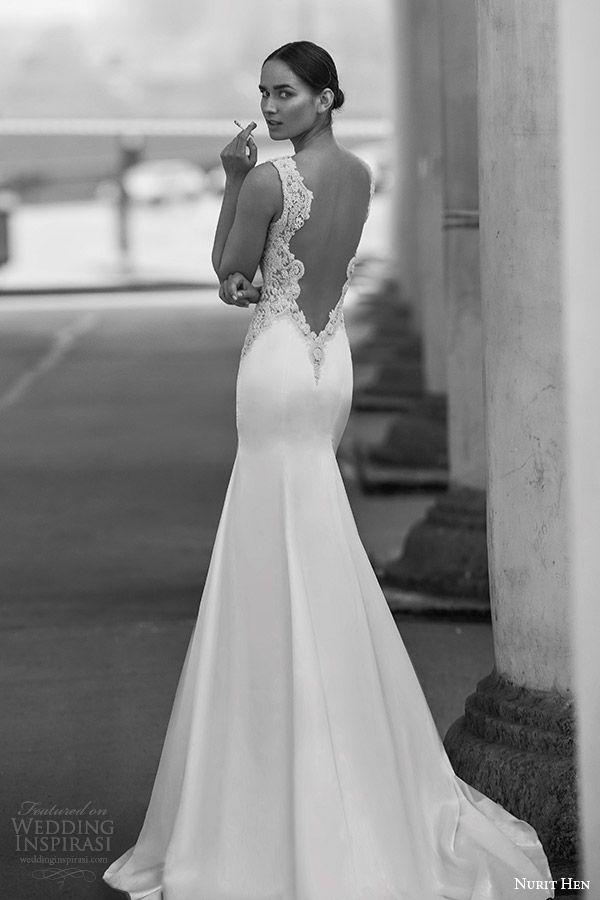 Open Back Trumpet Wedding Dress