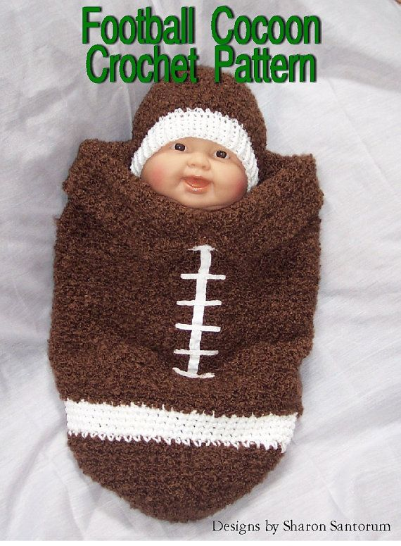 af6b3bd36a9 Football Cocoon Crochet Pattern PDF by creeksendinc on Etsy