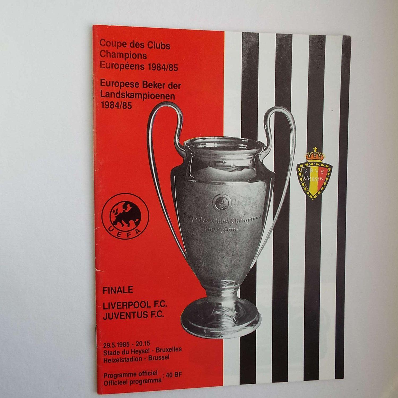 Vintage 1985 Liverpool Versus Juventus Football Soccer Programme European Cup Final Heizelstadion by VintageBlackCatz on Etsy