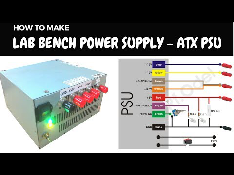 Diy Lab Bench Power Supply From Atx Psu Youtube Computer Power Supplies Computer Supplies Electronics Projects Diy