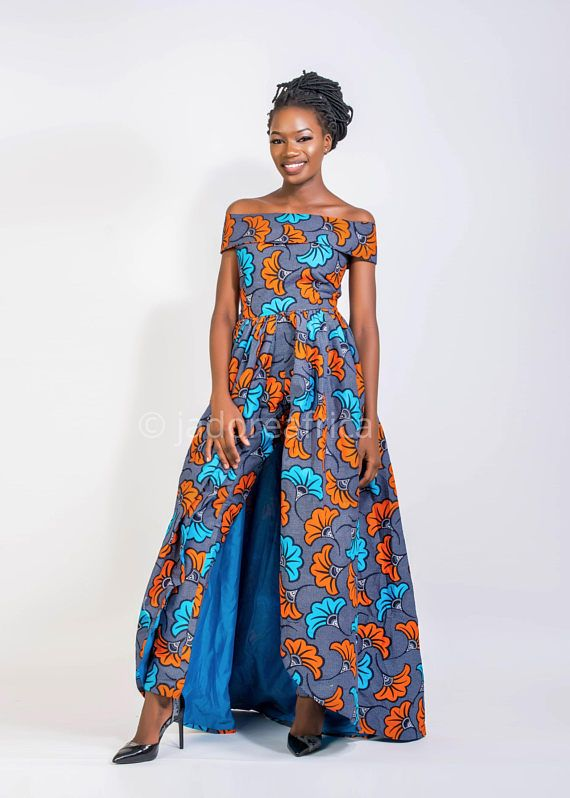 4fbccdf715d Jumpsuit with cape   Bridal shower jumpsuit   Wedding jumpsuit   Ankara  jumpsuit   African jumpsuit