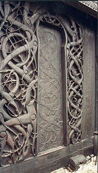 The eponymous carving on the Urnes stave church.