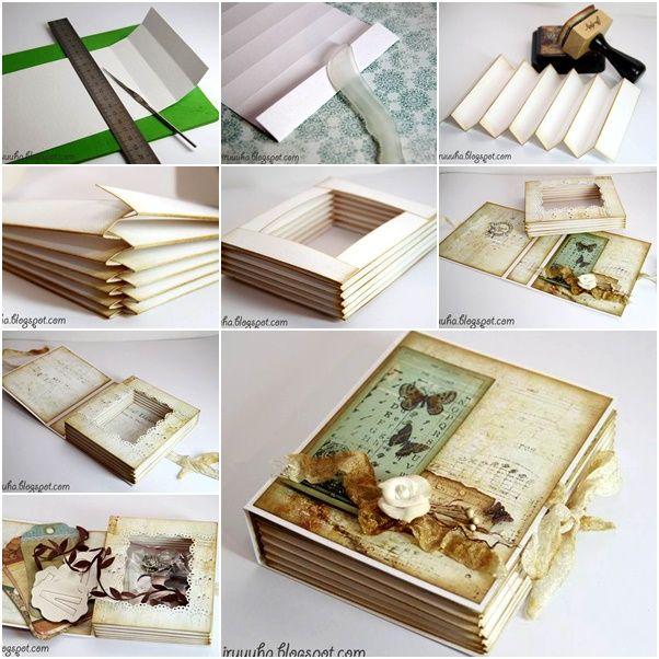 DIY Vintage Scrapbook Gift Box