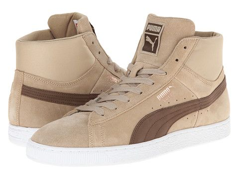 Suede mid classic nat calm 2 cornstalk carafe, PUMA, Shoes at 6pm.com
